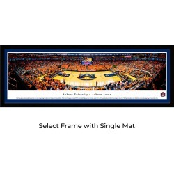 Auburn Tigers Basketball - Single Mat- Select Framed Panoramic Print