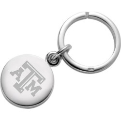 Texas A&M Sterling Silver Insignia Key Ring by M.LaHart & Co.