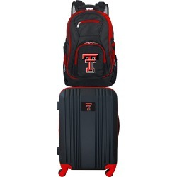 NCAA Texas Tech Red Raiders 2 Piece Set Luggage and Backpack by Mojo Licensing