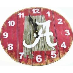 Alabama State Map 13.5 MDF Clock Oxbay by Seasons Designs