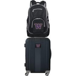NCAA Washington Huskies 2 Piece Set Luggage and Backpack by Mojo Licensing