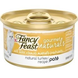 Fancy Feast Gourmet Naturals Turkey Recipe Pate Canned Cat Food, 3-oz can, case of 12 found on Bargain Bro Philippines from Chewy.com for $10.20