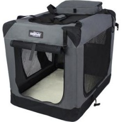 EliteField 3-Door Folding Soft Dog Crate, Gray, 42-in found on Bargain Bro India from Chewy.com for $89.99