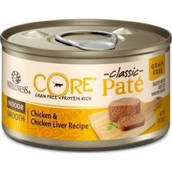 Wellness CORE Grain-Free Indoor Chicken & Chicken Liver Recipe Canned Cat Food, 3-oz, case of 12
