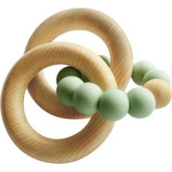 3 Stories Trading Tiny Teethers Infant Silicone And Beech Wood Rattle And Teether - Sage found on Bargain Bro Philippines from macys.com for $19.99