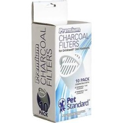 Pet Standard Premium Charcoal Filters for PetSafe Drinkwell 360 Fountains, 10 pack