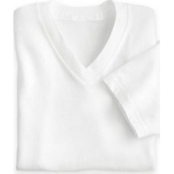 Men's John Blair Knit V-Neck Shirt, White, Size M found on Bargain Bro Philippines from Blair.com for $15.99