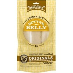 Better Belly Originals Real Beef Sirloin Flavor Large Rawhide Roll Dog Treats, 3 count