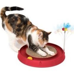 Catit Play Scratch Pad Circuit Ball Cat Toy