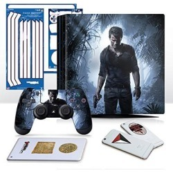 Controller Gear Uncharted 4 A Thief's End - PS4 PRO Horizontal Console and Controller Gaming Skin Pack - Officially Licensed by PlayStation - Controller Gear - PlayStation 4