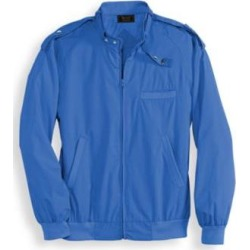 Men's Personal Choice Banded Collar Jacket, Blue, Size L TL found on Bargain Bro Philippines from Blair.com for $39.99