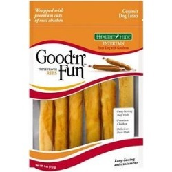 Good 'n' Fun Triple Flavor Ribs Beef, Pork & Chicken Sticks Dog Chews, 4-oz bag found on Bargain Bro India from Chewy.com for $4.27