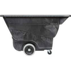 Rubbermaid FG9T1300BLA Black 0.5 Cubic Yard Tilt Truck / Trash Cart (450 lb.) found on Bargain Bro from webstaurantstore.com for USD $280.43