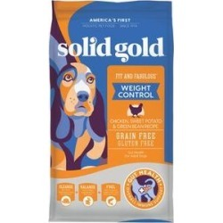 Solid Gold Fit & Fabulous Chicken, Sweet Potato & Green Bean Weight Control Recipe Grain-Free Dry Dog Food, 4-lb bag