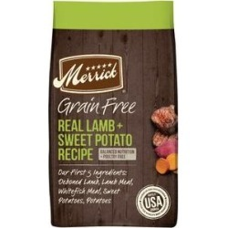 Merrick Grain Free Dry Dog Food Real Lamb & Sweet Potato Recipe, 4-lb bag
