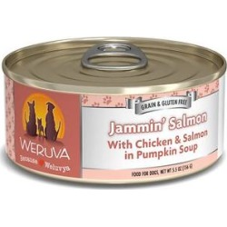 Weruva Jammin' Salmon with Chicken & Salmon in Pumpkin Soup Grain-Free Canned Dog Food, 5.5-oz, case of 24