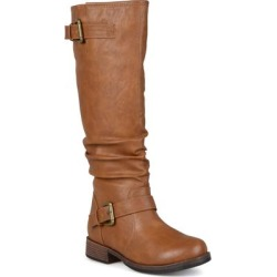 Journee Collection Women's Extra Wide Calf Stormy Boot - Tan found on Bargain Bro India from macys.com for $99.00