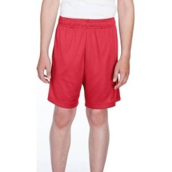 Team 365 TT11SHY Youth Zone Performance Short in Sport Red size Medium | Polyester found on Bargain Bro India from ShirtSpace for $8.00