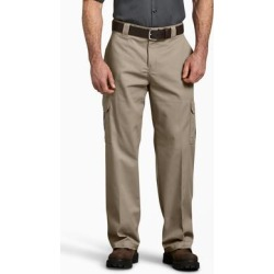 Dickies Men's Flex Relaxed Fit Straight Leg Cargo Pants - Desert Khaki Size 42 30 (WP598) found on Bargain Bro India from Dickies.com for $29.99