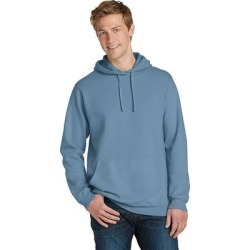 Port & Company PC098H Men's Beach Wash Garment-Dyed Pullover Hooded Sweatshirt in Mist size 3XL | Fleece found on Bargain Bro India from ShirtSpace for $27.52