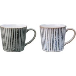 Denby Wax Multi Set of 2 Mugs - Multi Colored And Hand Painted