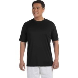 Champion CW22 Athletic Adult 4.1 oz. Double Dry Interlock T-Shirt in Black size Small | Polyester found on Bargain Bro India from ShirtSpace for $8.17