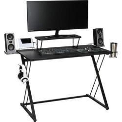 Essentials Gaming Desk in Black Z-frame - OFM ESS-1101-BLK-BLK found on Bargain Bro India from totally furniture for $143.97