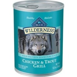 Blue Buffalo Wilderness Trout & Chicken Grill Grain-Free Canned Dog Food, 12.5-oz, case of 12 found on Bargain Bro India from Chewy.com for $24.00