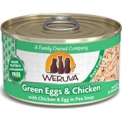 Weruva Green Eggs & Chicken with Chicken, Egg & Greens in Gravy Grain-Free Canned Cat Food, 3-oz, case of 24