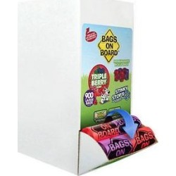 Bags on Board Odor Control Triple Berry Scent Dog Poop Bags and Dispenser, 900 Count