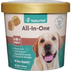 NaturVet All-In-One Support Soft Chews Dog Supplement, 60 count