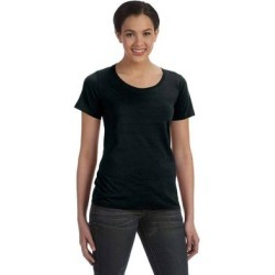 Anvil 391A Women's Featherweight Scoop T-Shirt in Black size XS   Cotton 391 found on Bargain Bro India from ShirtSpace for $4.96