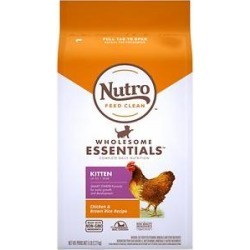 Nutro Wholesome Essentials Chicken & Brown Rice Recipe Kitten Dry Cat Food, 5-lb bag