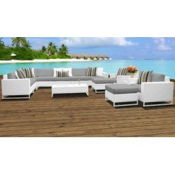Miami 13 Piece Outdoor Wicker Patio Furniture Set 13a in Grey - TK Classics Miami-13A-Grey found on Bargain Bro India from totally furniture for $2652.99