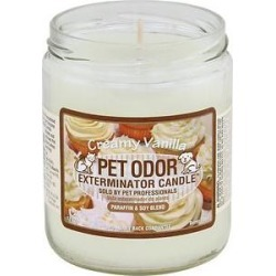 Pet Odor Exterminator Creamy Vanilla Deodorizing Candle, 13-oz jar found on Bargain Bro India from Chewy.com for $7.95