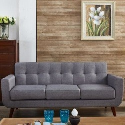 Langley Street Lester Square Arms Sofa LGLY6149 Upholstery: Gray