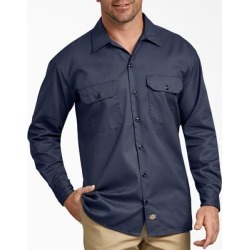 Dickies Men's Big & Tall Dickies Men's Big & Tall Long Sleeve Work Shirt - Navy Blue Size 3Xl - Navy Blue Size 3XL (574) found on Bargain Bro India from Dickies.com for $29.99