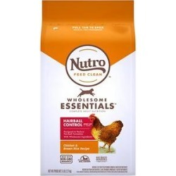Nutro Wholesome Essentials Hairball Control Chicken & Brown Rice Recipe Adult Dry Cat Food, 5-lb bag found on Bargain Bro Philippines from Chewy.com for $16.99