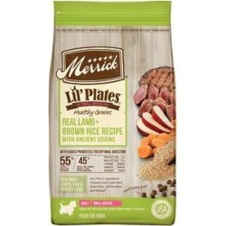 Merrick Lil' Plates Healthy Grains Real Lamb + Brown Rice Recipe Small Breed Adult Dry Dog Food, 4-lb bag