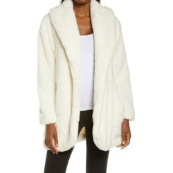 UGG Annona Faux Shearling Travel Cardigan - Natural - Ugg Knitwear found on Bargain Bro from lyst.com for USD $97.28