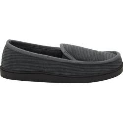 Cotton Corduroy Slippers by KingSize in Steel (Size 12 M) found on Bargain Bro Philippines from Brylane Home for $24.99