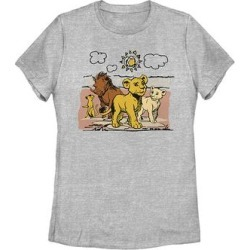 Fifth Sun Women's Tee Shirts ATH - The Lion King Athletic Heather Hakuna Group Crewneck Tee - Women & Plus found on Bargain Bro India from zulily.com for $18.97