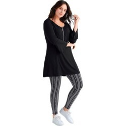 Plus Size Women's Leggings by ellos in Animal Heather (Size 6X) found on Bargain Bro Philippines from Ellos for $18.90