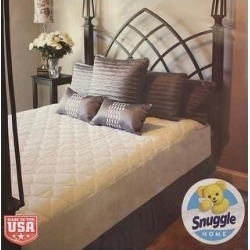Snuggle Home Plush Super Soft Mattress Pad, Fits 16 Inches (Full), Infant Boy's, White found on Bargain Bro from Overstock for USD $25.07