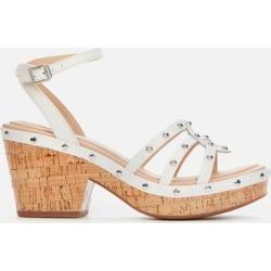 Maritsa70 Sun Platform Heeled Sandals - White - Clarks Heels found on Bargain Bro from lyst.com for USD $81.32