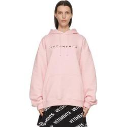 Pink Friendly Logo Hoodie - Pink - Vetements Sweats