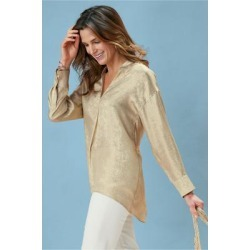 Women's Gigi Pullover Top by Soft Surroundings, in Champagne size XS (2-4)