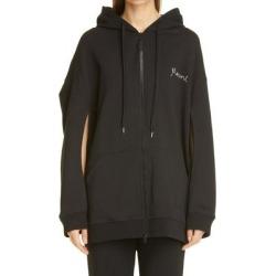 Oversize Embroidered Logo Hoodie - Black - Marni Sweats