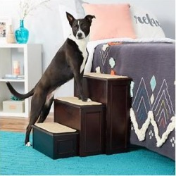 Gen7Pets Conversion Deluxe Wooden Dog Stairs, Espresso found on Bargain Bro Philippines from Chewy.com for $169.95