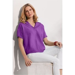 Women Hi-Pointe Shirt by Soft Surroundings, in Royal Purple size 1X (18-20)